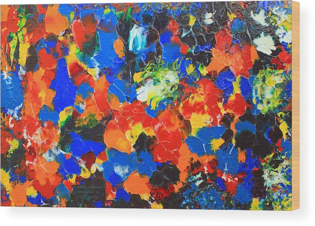 Acrylic Wood Print featuring the painting Acrylic Abstract Upon Wood by Carl Deaville