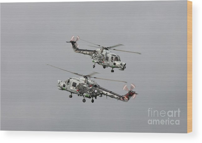 Westland Lynx Wood Print featuring the photograph Black Cats by Lee Sure