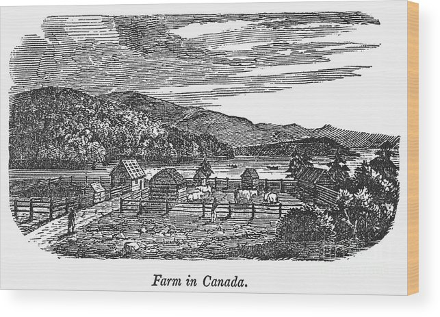1820 Wood Print featuring the photograph Canada: Farm, C1820 by Granger