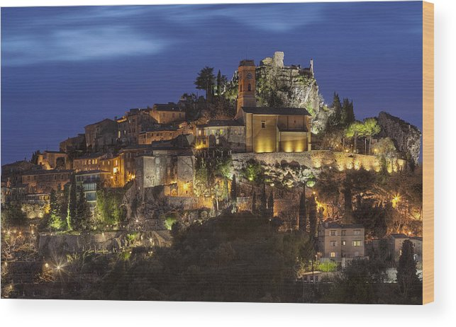Hilltoptown Wood Print featuring the photograph Eze France by Al Hurley