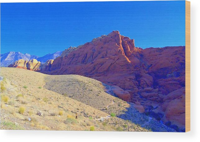 Landscape Wood Print featuring the photograph Red Rock Canyon 4 by Randall Weidner