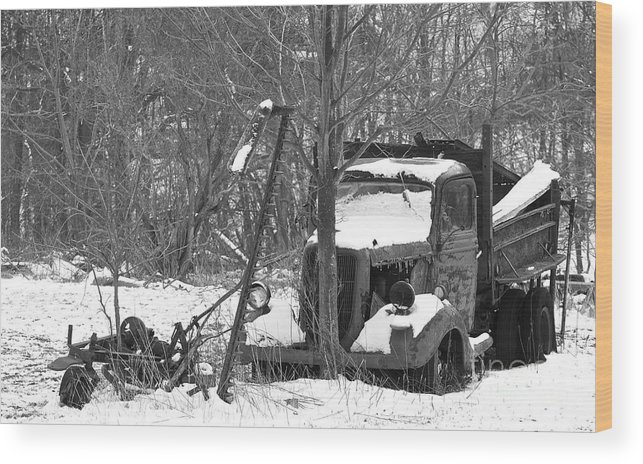 Truck Wood Print featuring the photograph Stranded In Time by James Knights