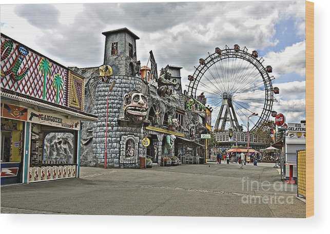 Ferris Wheel Wood Print featuring the photograph The Prater In Vienna by Madeline Ellis