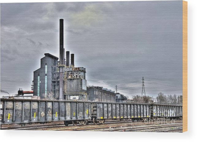 Wood Print featuring the photograph West Mill by Bob Niederriter