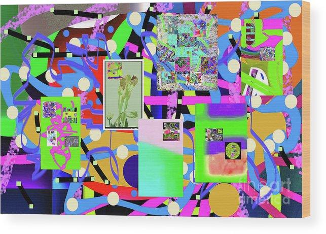 Walter Paul Bebirian Wood Print featuring the digital art 3-3-2016abcdefghijklmnopqrtuv by Walter Paul Bebirian