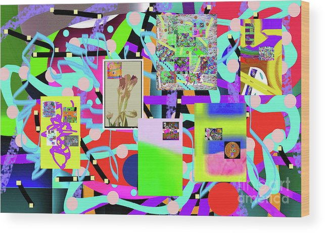Walter Paul Bebirian Wood Print featuring the digital art 3-3-2016abcdefghijklmnopqrtuvwxyz by Walter Paul Bebirian