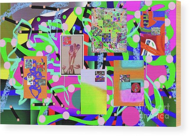 Walter Paul Bebirian Wood Print featuring the digital art 3-3-2016abcdefghijklmnopqrtuvwxyzabcd by Walter Paul Bebirian