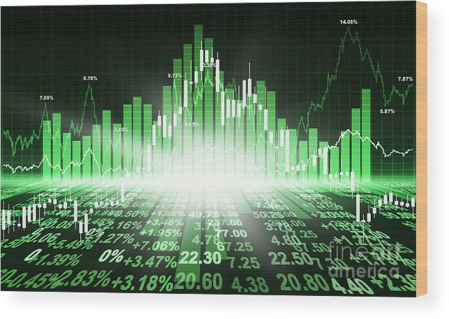Analysis Wood Print featuring the photograph Stock Market Concept by Setsiri Silapasuwanchai