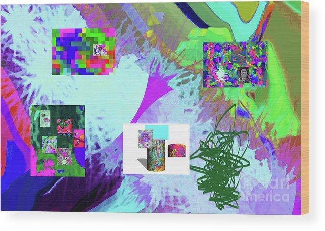 Walter Paul Bebirian Wood Print featuring the digital art 4-18-2015babcdefghijklmnopqrtuvwxyzabcdefghijklm by Walter Paul Bebirian