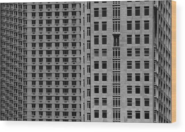 Architecture Wood Print featuring the photograph Apartment Buildings As Seen From 59th Street by Robert Ullmann