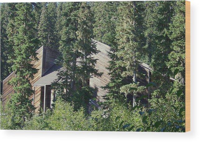 Lodge Wood Print featuring the photograph Aubrey Watzek Lodge by Angi Parks