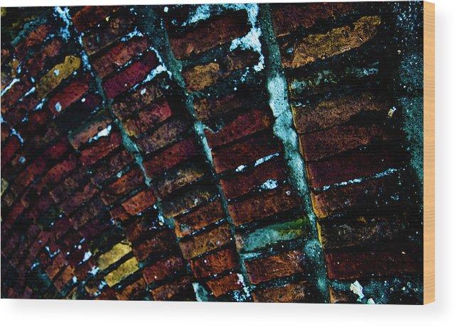 Brick Wood Print featuring the photograph Brick Steps by Grebo Gray