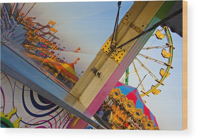 Carnival Wood Print featuring the photograph Carnival 1 by Skip Hunt