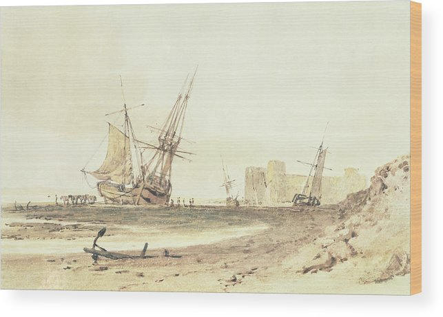 Tuner Wood Print featuring the painting Flint Castle, Wales by Joseph Mallord William Turner