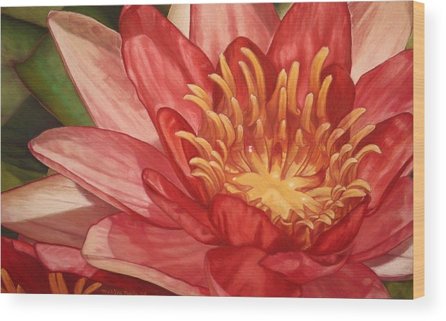 Botanical Wood Print featuring the painting Glorious by Melissa Tobia