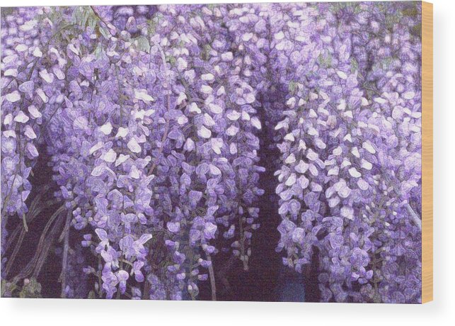 Flowers Wood Print featuring the photograph Little Petals Db by Lyle Crump