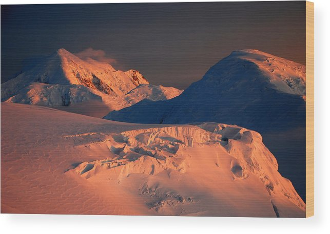 Sunset Wood Print featuring the photograph Midnight Sunset by Alasdair Turner