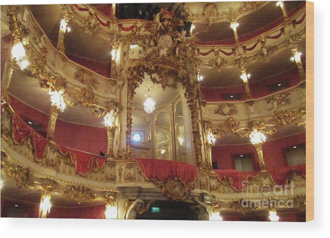 Munich Wood Print featuring the photograph Residenz Theatre 5 by Randall Weidner