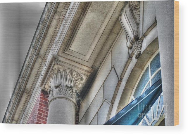 Main Street Wood Print featuring the photograph State Bank Of Geneva by David Bearden