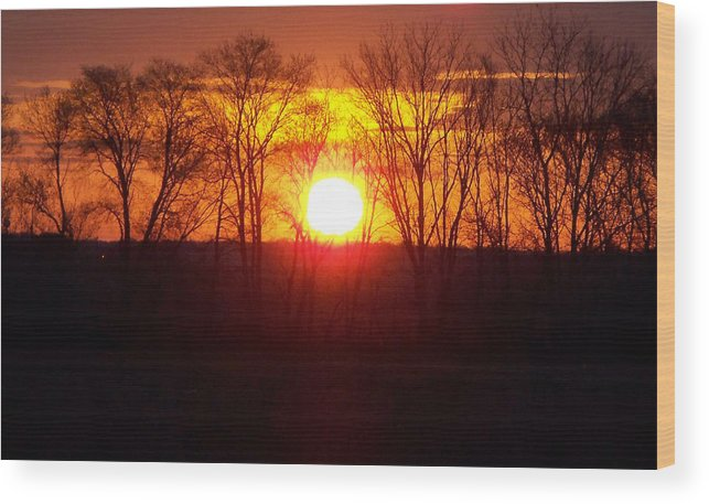 Sunrise Wood Print featuring the photograph Sunrise 5 1 2009 002c by Chris Deletzke aka Sparkling Clean Productions