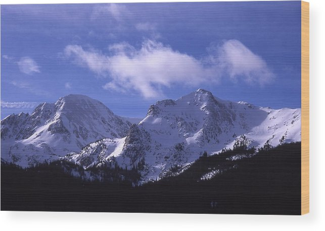 Clouds Wood Print featuring the photograph The Other Side Of The Mountains by Cynthia Cox Cottam
