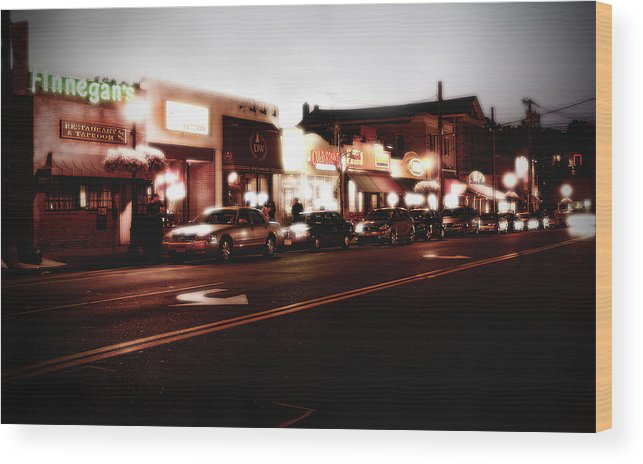 Long Island Wood Print featuring the photograph Wall Street by Michael Simeone