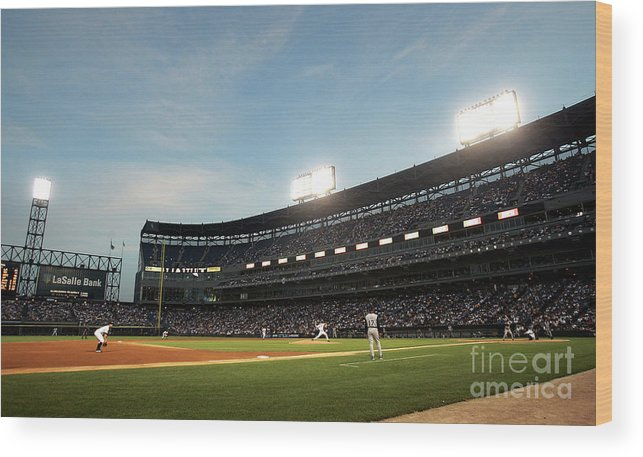 Long Wood Print featuring the photograph Kansas City Royals V Chicago White Sox 4 by Jonathan Daniel