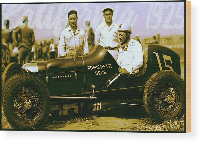Speedway Racing Wood Print featuring the digital art Rajo Jack - California Racing by Nic The Artist