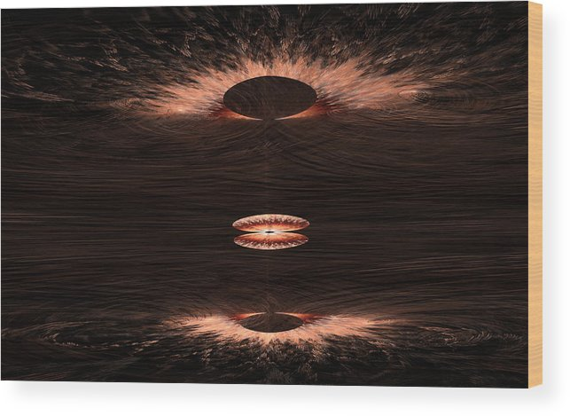 Fractal Wood Print featuring the digital art Emergence 2 by GJ Blackman