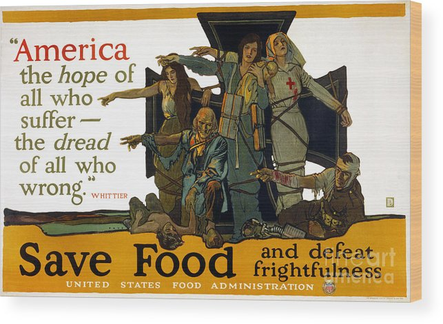 1917 Wood Print featuring the photograph Red Cross Poster, 1917 by Granger