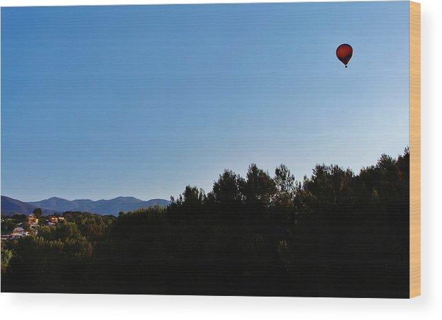 Hot Air Balloon Wood Print featuring the photograph Hot Air Balloon by Christopher Hoffman