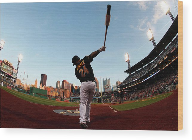 Professional Sport Wood Print featuring the photograph St Louis Cardinals V Pittsburgh Pirates by Justin K. Aller
