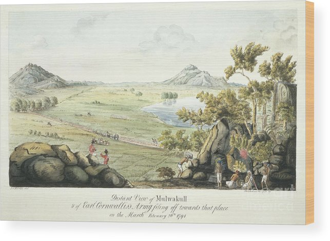 India Wood Print featuring the photograph Cornwallis's Army by British Library