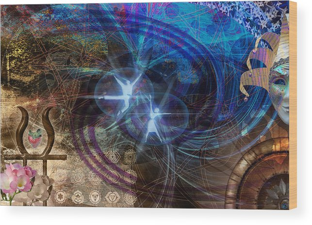 Carnaval Wood Print featuring the digital art Enchanted Now by Kenneth Armand Johnson