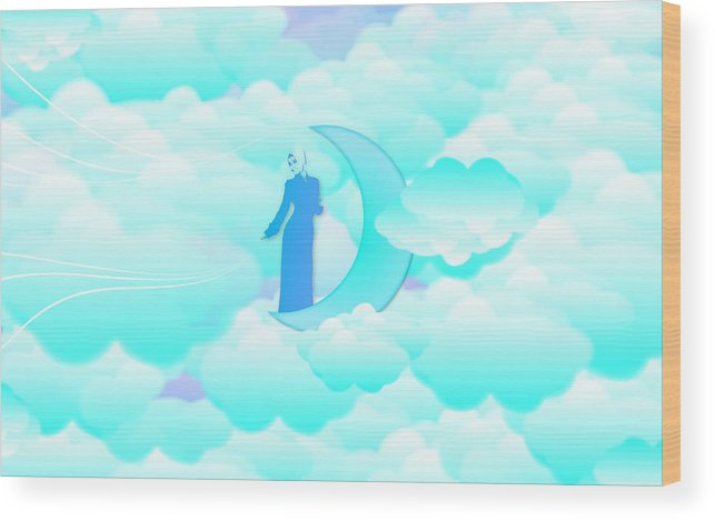 Muslim Wood Print featuring the digital art Fly In The Sky by Islamic Cards
