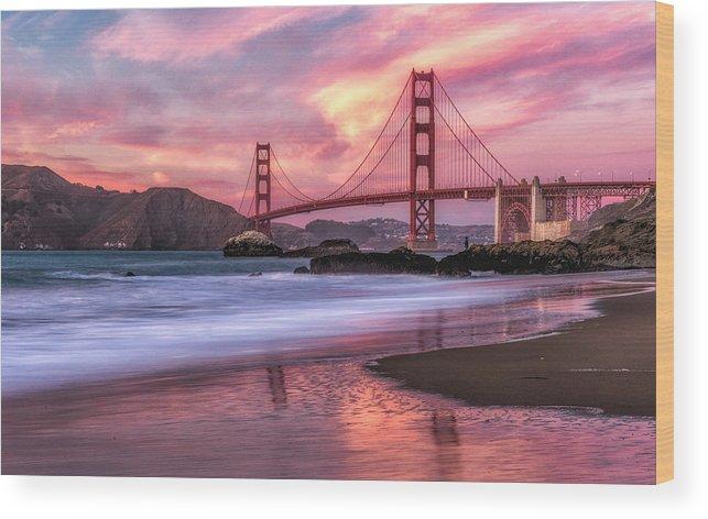 golden Gate Bridge Wood Print featuring the photograph Golden Gate Bridge by Doc Miles Photography