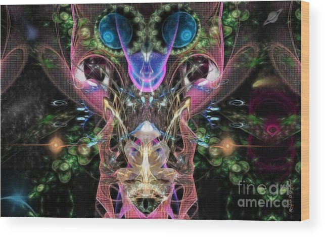 Wood Print featuring the digital art Indifference by Rhonda Strickland