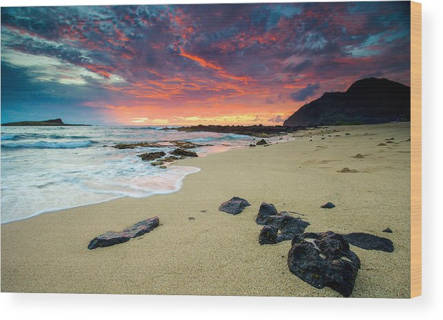 Hawaii Wood Print featuring the photograph Looking East by Robert Aycock