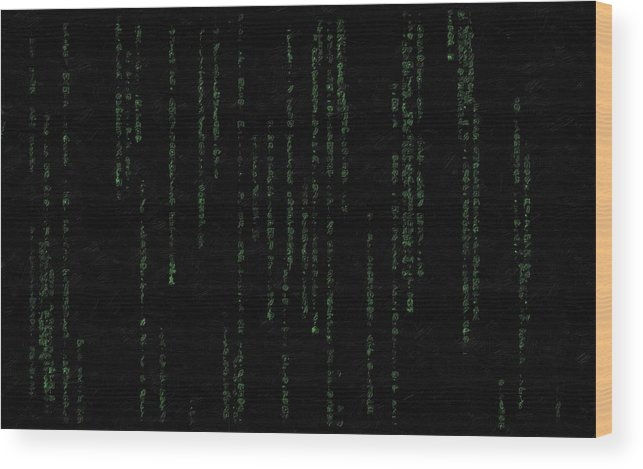 Inside Wood Print featuring the painting Mind Of The Matrix by Florian Rodarte