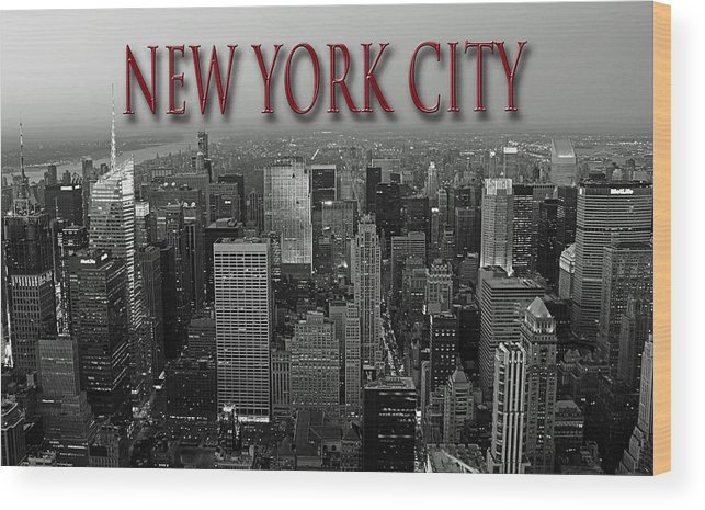 New York Wood Print featuring the photograph No One Sleeps by Thomas Fouch