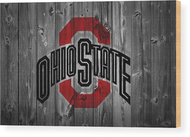 Ohio State University Wood Print featuring the digital art Ohio State University by Dan Sproul