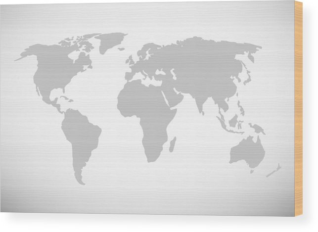 Simple World Map Vector Illustration Wood Print on blue world map vector, simple world map vector, black white world map vector, detailed world map vector,
