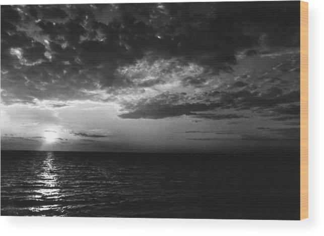 Sunset Lake Ontario Wood Print featuring the photograph Sunset Lake Ontario by Robert Ullmann