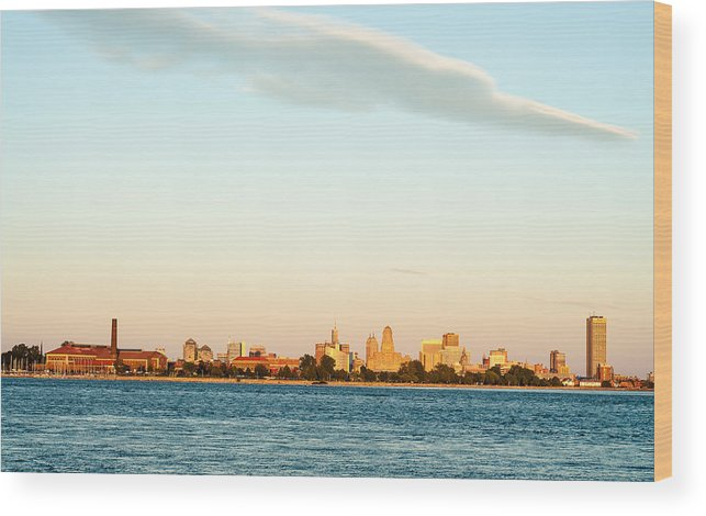 United States Wood Print featuring the photograph Sunset Over Buffalo New York by Rosemary Legge