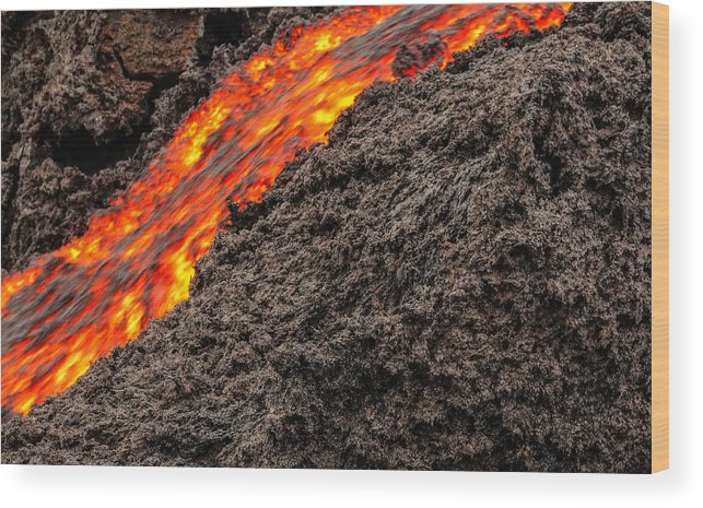 Lava Wood Print featuring the photograph Tears Of Hades by Jim Southwell
