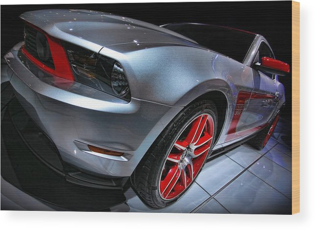 2011 Wood Print featuring the photograph Ford Mustang - Boss 302 by Gordon Dean II