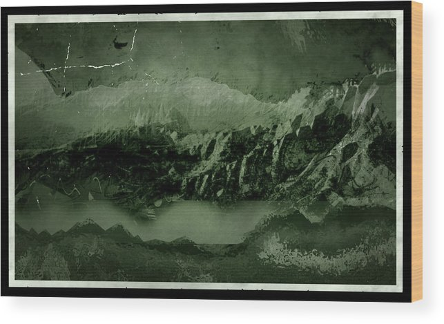 Landscape Wood Print featuring the digital art Bad Terrain by Margaret Wingstedt