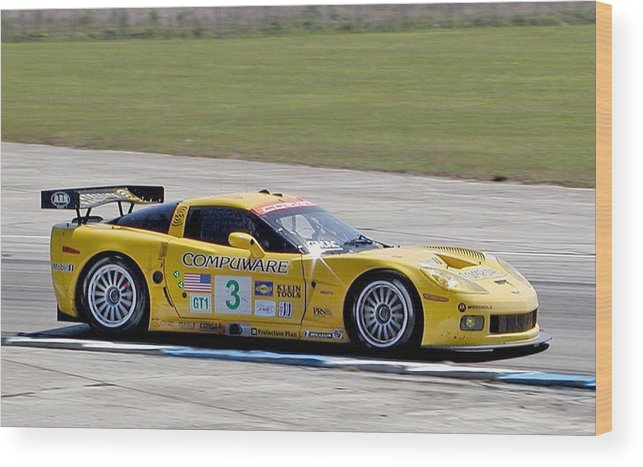Corvette Racing Wood Print featuring the photograph Corvette Racing C6r 3 by Kornel J Werner