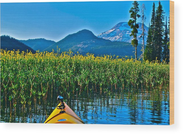 Sparks Lake Wood Print featuring the photograph Fall Is Coming by Dorota Nowak