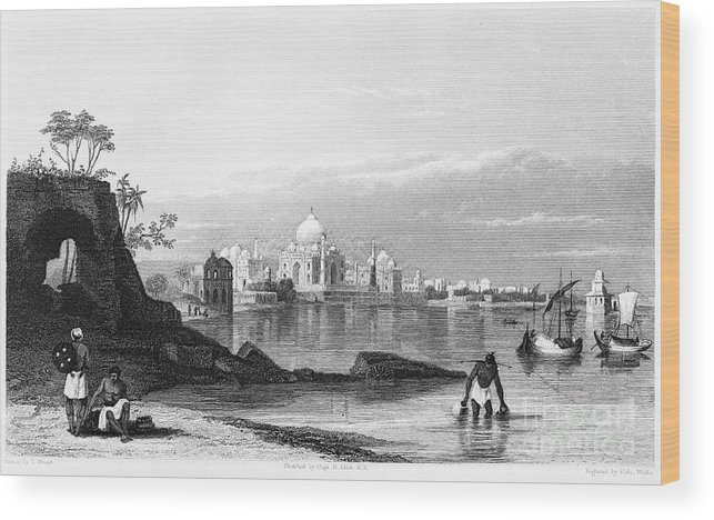 1860 Wood Print featuring the photograph India: Taj Mahal, C1860 by Granger